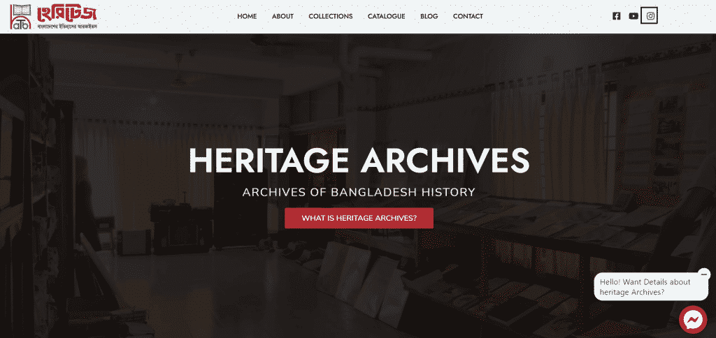 Heritage Archives Website Cover